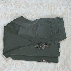 SOFT SURROUNDINGS olive green jewel pants